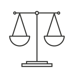 Balance equality scale icon vector