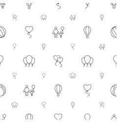 balloon icons pattern seamless white background vector image
