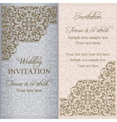 Baroque wedding invitation patina vector image