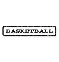 Basketball watermark stamp vector