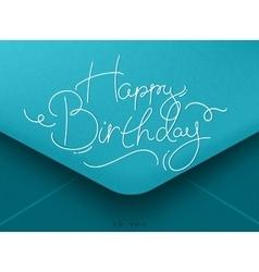Birthday envelope blue vector