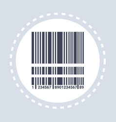 Black realistic barcode icon shopping concept flat vector