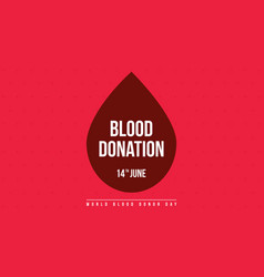 blood donation day style banner collection vector image