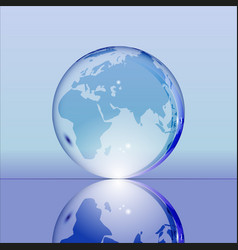 blue shining transparent earth globe vector image