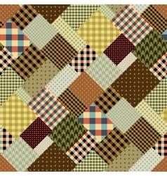 Brown retro patchwork vector image