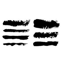 Brush strokes paintbrush set grunge vector