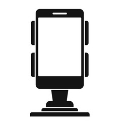Business phone holder icon simple style vector