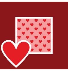 card with heart pattern vector image