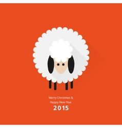 Christmas sheep greeting card vector
