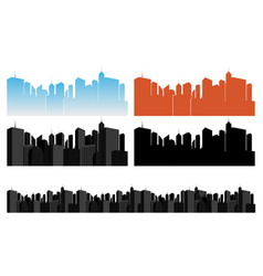 city icons set on white vector image