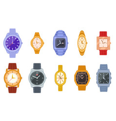 classic watch wrist watches women men clock vector image