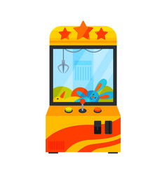 Claw crane game machine gaming computer machinery vector