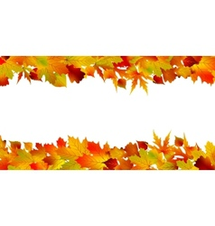 Colorful autumn border made from leaves EPS 8 vector image