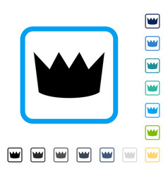 Crown framed icon vector