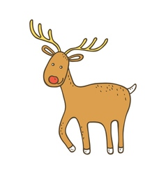Cute christmas dee vector image vector image
