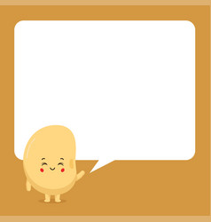 Cute soy with speech bubbles vector