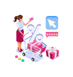Discount online icon vector