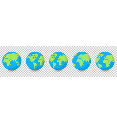 earth globes collection isolated vector image
