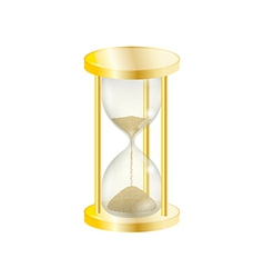 elegant gold sandglass vector image