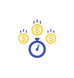 Fast loan icon on white vector