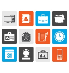 Flat Web ApplicationsBusiness and Office icons vector image