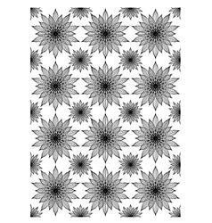 Floral block print vector image vector image