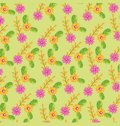 flowers leaves nature vector image