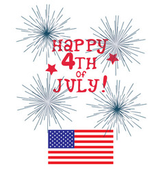 Fourth july vector