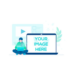 freelance work - colorful flat design style vector image