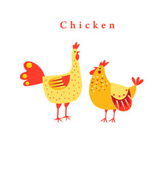 funny chicken graphics vector image