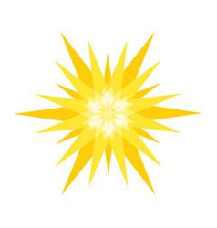 Geometric sun isolated vector