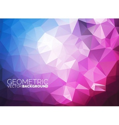 Geometric triangles background vector