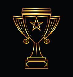 Gold trophy vector