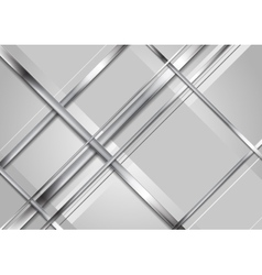 Grey abstract technology metallic background vector image