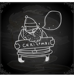 Hand Drawn Father Christmas vector image