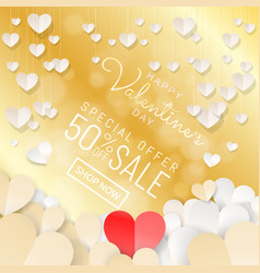 Happy valentines day sale background banner with vector