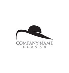 Hat woman symbols logo black color vector