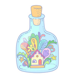 house in bottle vector image