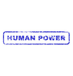 human power rubber stamp vector image