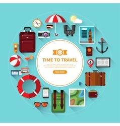 icon set traveling tourism vacation planning vector image