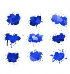 Ink blobs vector