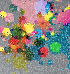 ink color on fabric texture vector image