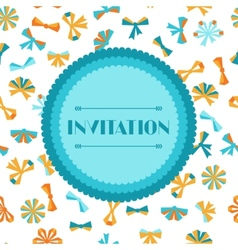 Invitation card with abstract various bows vector