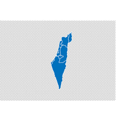 Israel map - high detailed blue map vector