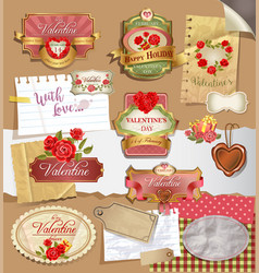 Labels for valentines day vector