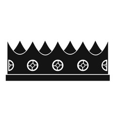 Little crown icon simple style vector