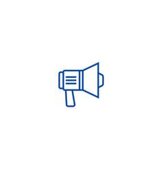 loudspeaker sign line icon concept loudspeaker vector image