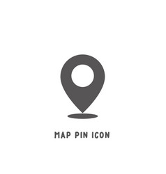 Map pin icon simple flat style vector