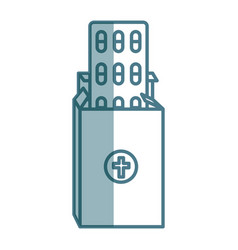 Medical capsules isolated icon vector