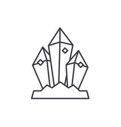 mineral treasure line icon concept mineral vector image